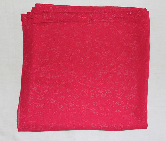 Red Solid Color Hijab Scarves Daily Wear