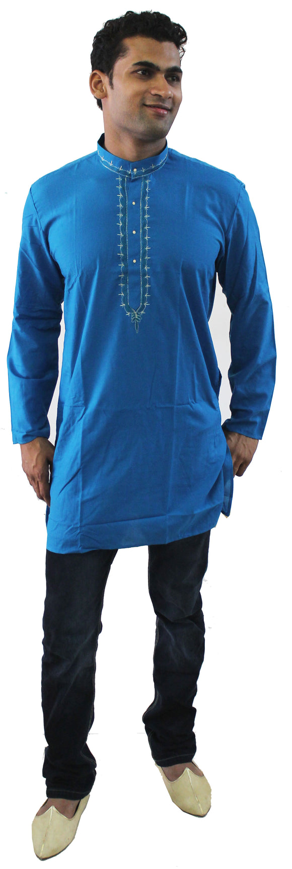 Blue Long Ladies Kurta Dress Chest Size 40 B50