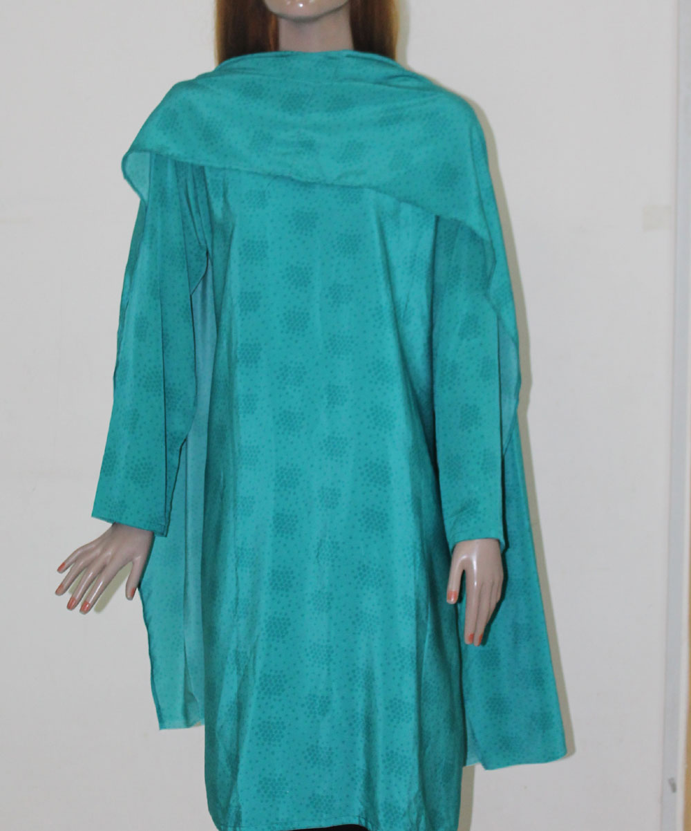 Blue Indian Long Kurta Chest Size 48 B58