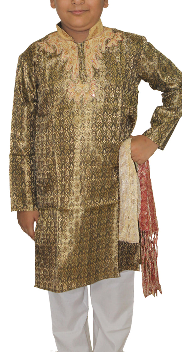Gray  Designer  Boys Kurta Salwar sherrwani Indian Wedding