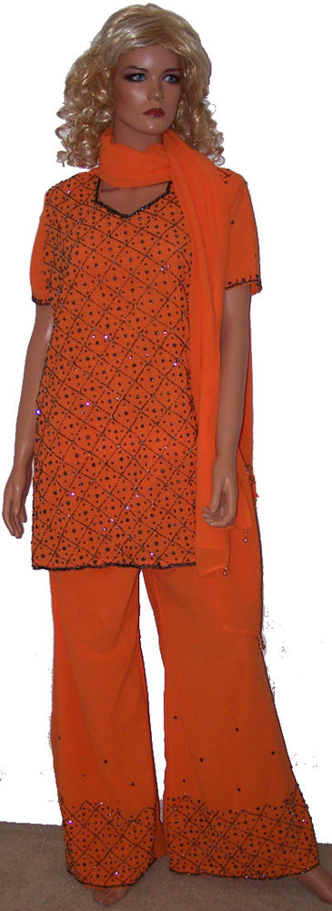 Load image into Gallery viewer, Orange Pant Suit