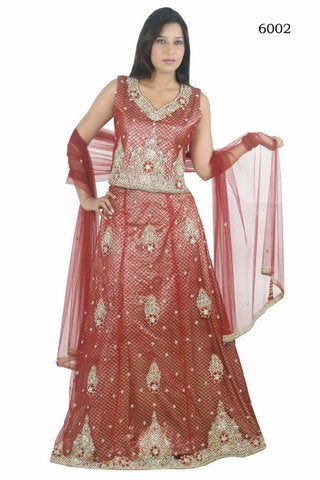 Brown Net New Designer Ethnic Lehanga Choli