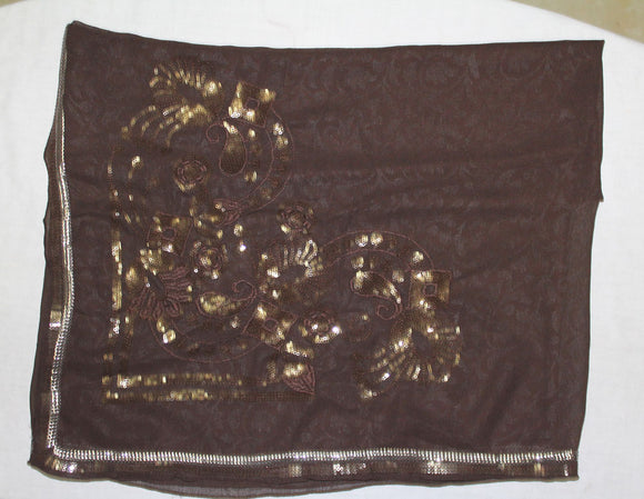 Brown 1 Beaded Bridal Hijab