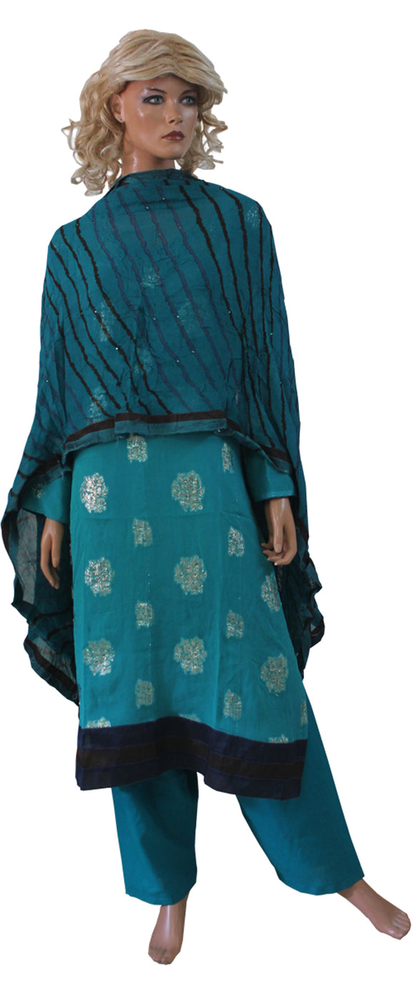 Blue   Indian Wedding  Designer Salwar kameez Plus SZ 56