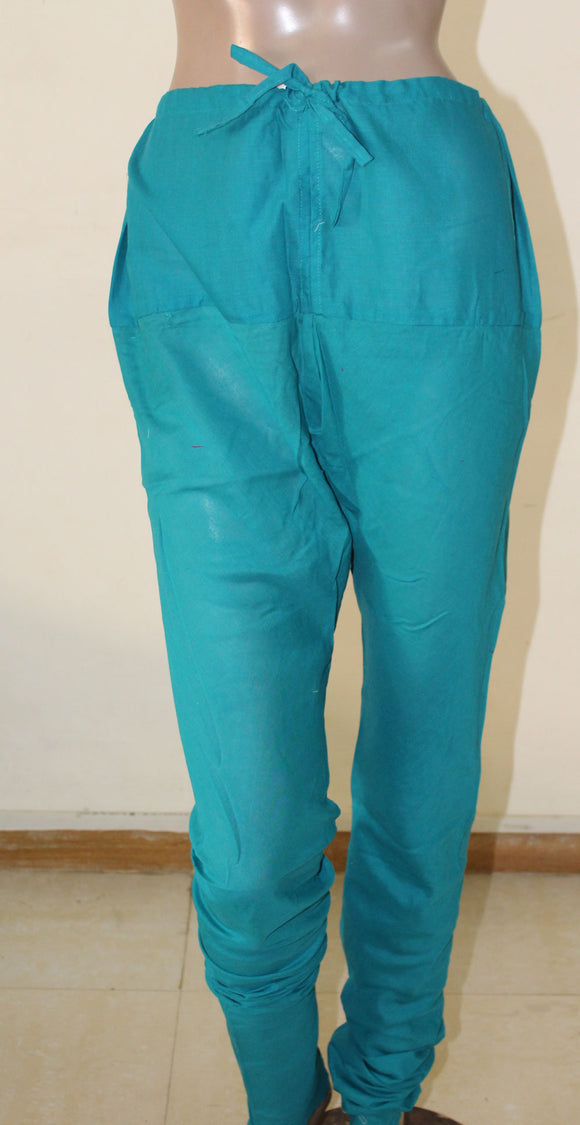 Blue Girls Cotton Churidar Leggings