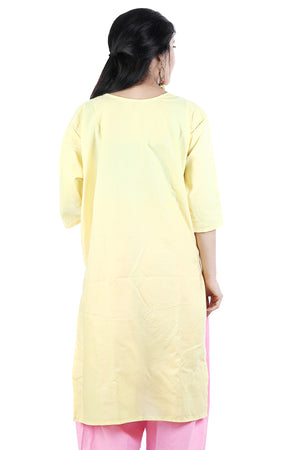 Load image into Gallery viewer, Yellow Cotton Salwar kameez chest Size 48