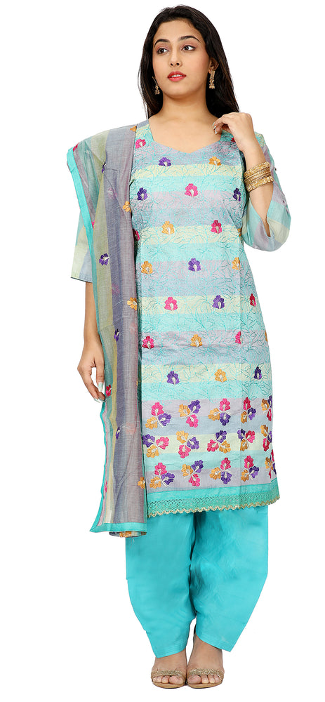 Blue Summer  Cotton Salwar kameez  Pus Chest size 52