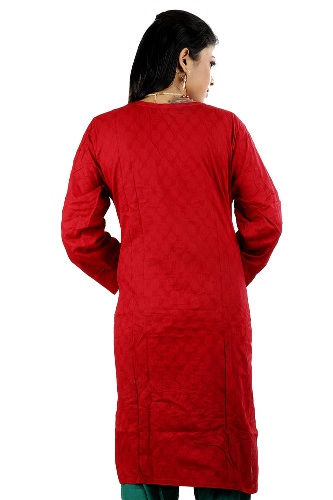 Load image into Gallery viewer, Red   Embroidered  Salwar kameez Dress Chest size 52