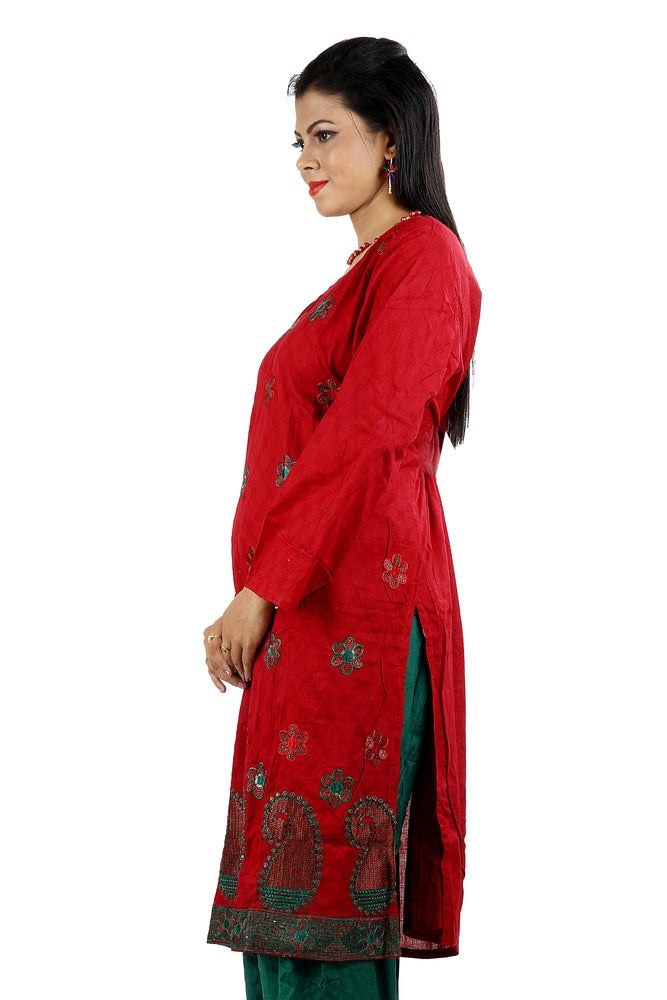 Red   Embroidered  Salwar kameez Dress Chest size 52