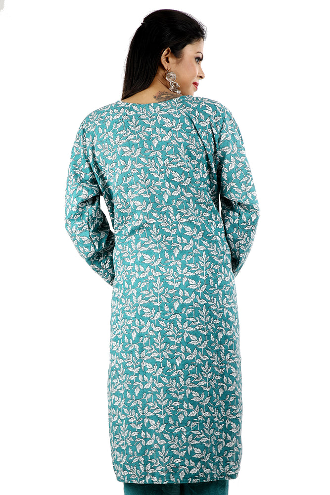 Green  Cotton Salwar kameez Dress Plus Size 52
