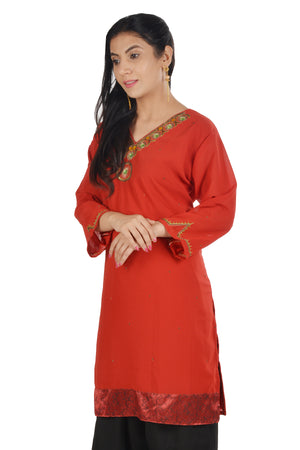 Load image into Gallery viewer, Orange  Salwar kameez chest Plus  Size 44