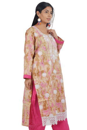 Load image into Gallery viewer, Pink Cotton  Salwar kameez Dress Plus Size 48