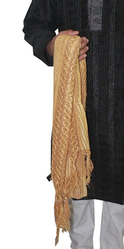 Apparelsonline Men's Shawl Stole Dupatta (Gold)