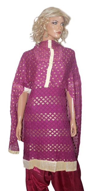 Load image into Gallery viewer, Purple  Indian Wedding party wear Formal Salwar kameez Dress Chest Size 44