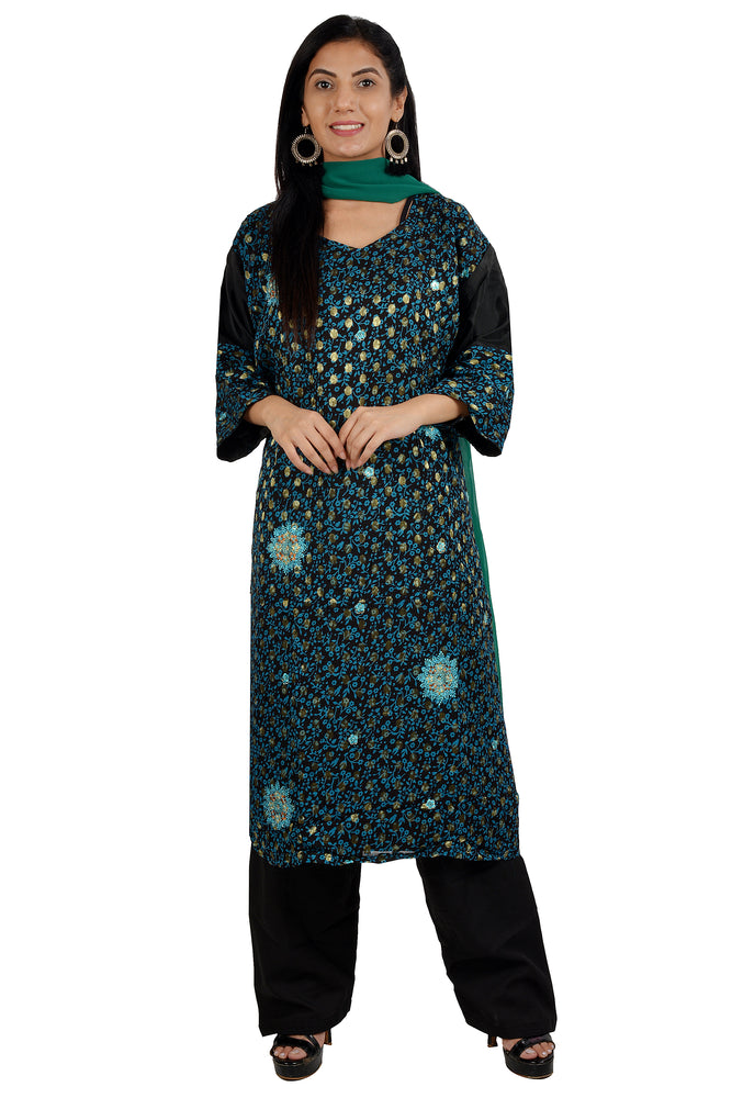 Green  Indian Wedding party wear Formal Salwar kameez Dress Plus Size 56