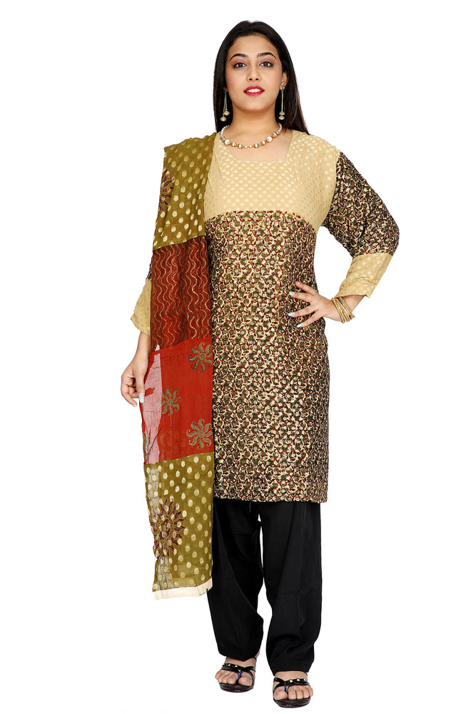 Beige Designer Salwar kameez Dress Plus Size 52