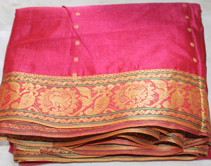 Apparelsonline  Pink Silk Embroidered- saree By-Noor-Designs