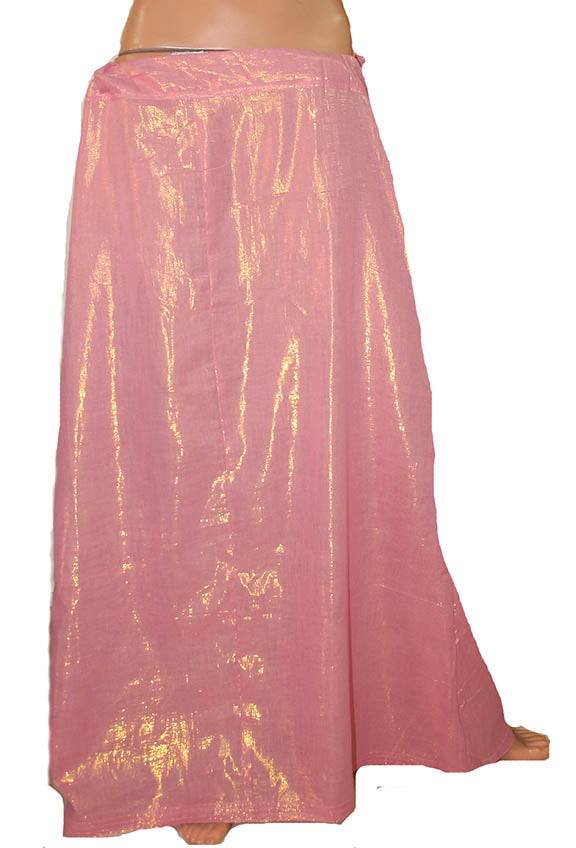 Pink  Shimmer Indian sari Petticoat Underskirt belly dancing  slip New Arrivals