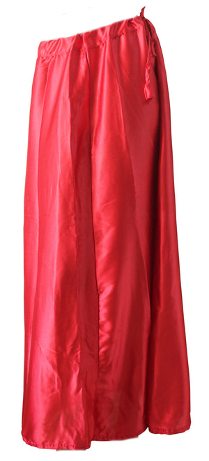 Load image into Gallery viewer, Red  Luxurious soft satin skirt saree Petticoat Underskirt belly dancing  slip