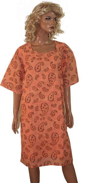 Load image into Gallery viewer, Orange Cotton Long Kurta With Free Dupatta & Salwar Chest Size 54