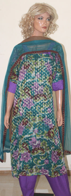 Green Indian Dress Salwar Kameez Chest Plus  size  54