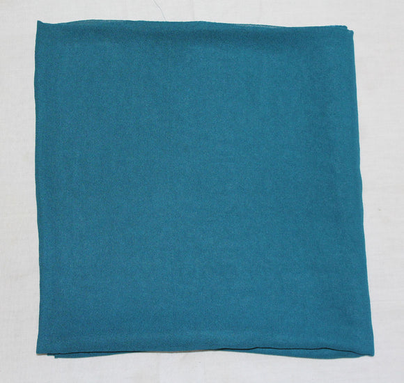 Blue Solid Color Hijab Scarves Daily Wear