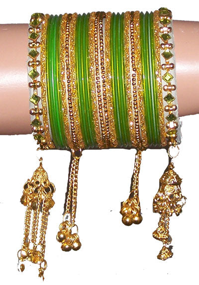 Green Style Bangles