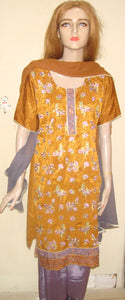 Orange Indian Long Kurta