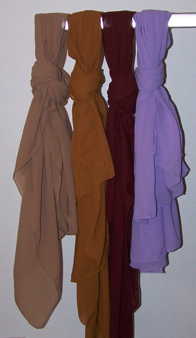 Set of Solid Color Scarves