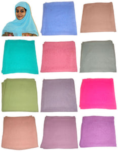 wholesale Lot of 12 Different Color Solid Hijab scarf Scarves