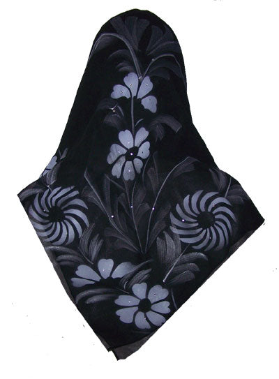 Set of Black Scarves Different Kinds