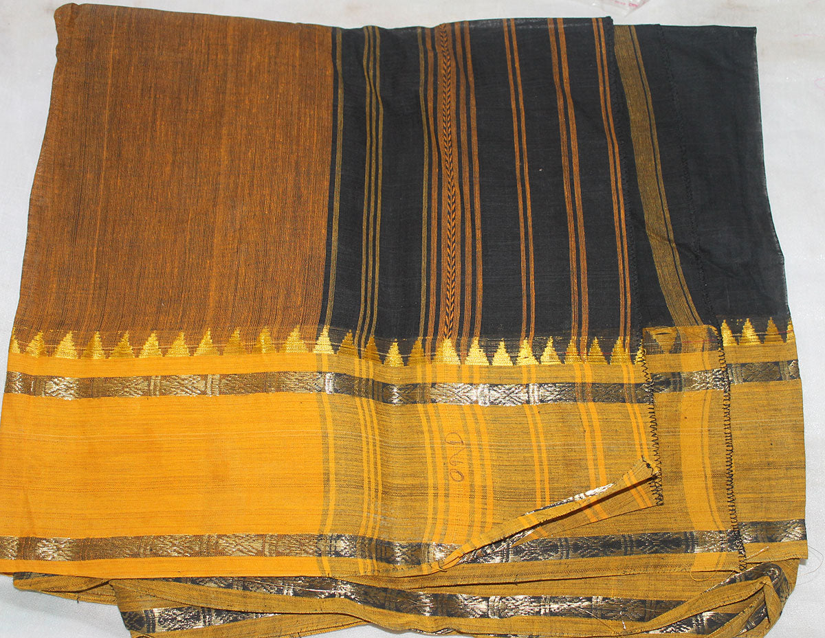 Apparelsonline Black Cotton  saree  By Noor Designs