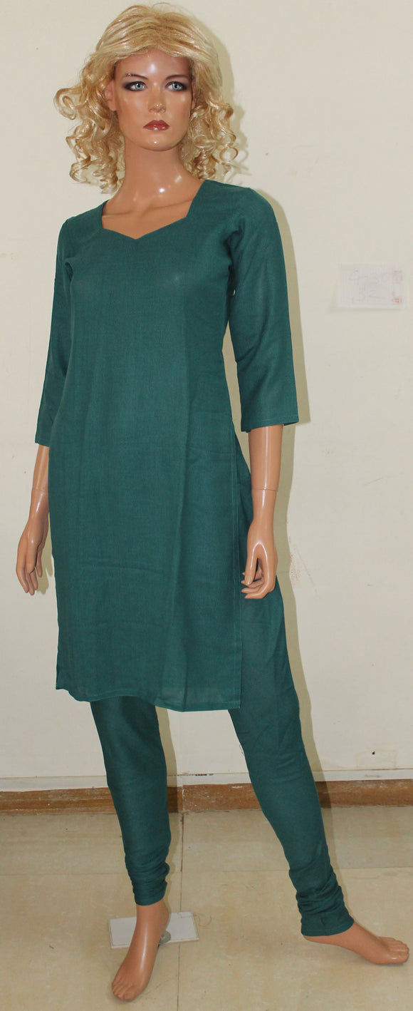 Green Girls Indian Salwar Kameez Churidar Chest size 34