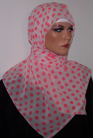 Girls  White and Pink  Shawl