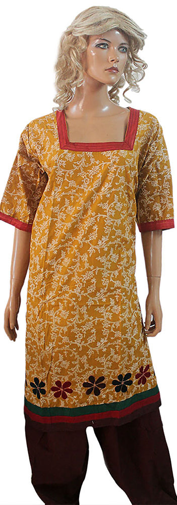 Load image into Gallery viewer, Brown Salwar Kameez Cotton  chest size 50