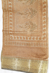 Brown Golden Saree