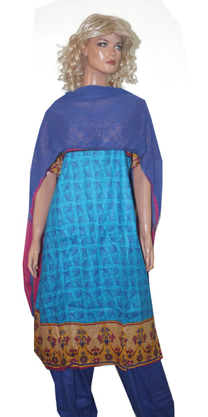 Blue Cotton Plus size Salwar Kameez Dress Chest size 54
