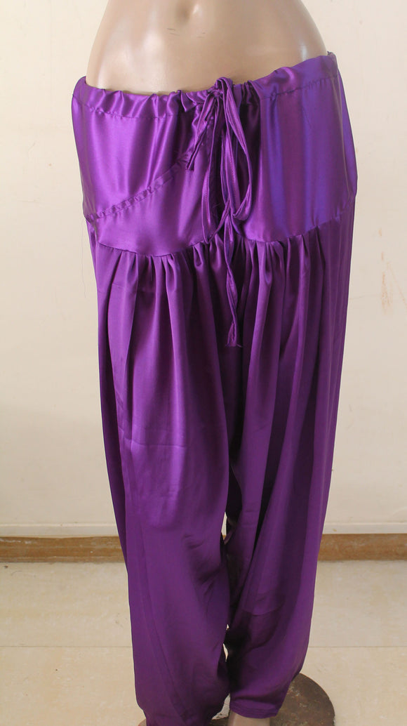 Purple Indian Salwar Match Kurta Mameez High Quality Satin