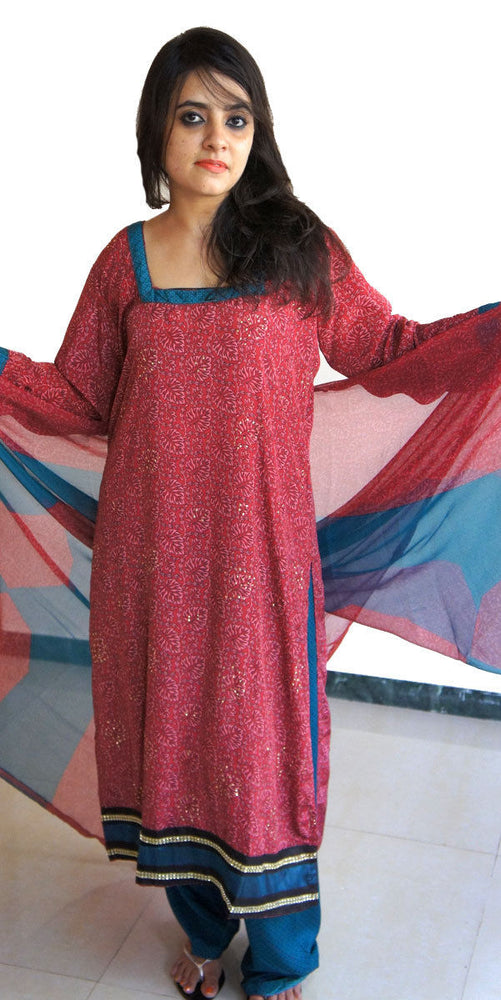 Printed Full sleeves Salwar kameez Festival arrivals chest size 42