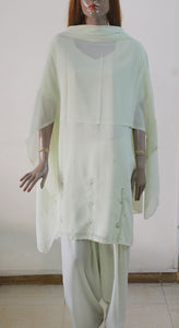 Off White Plus Size Salwar Kameez