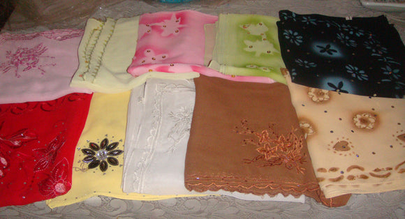 wholesale Lot of 10 scarves