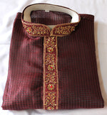 Burgundy  Boys  Kurta Pajama Set New Indian Clothing size Age  13,14