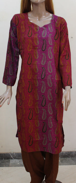 Load image into Gallery viewer, Hot pink Cotton Salwar kameez Dress Plus  chest Size 52