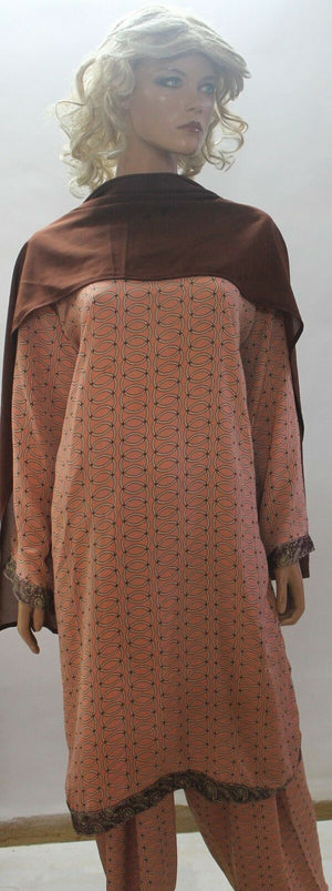 Dusty Pink Designer  Salwar Kameez  Dupatta Chest Plus sizes
