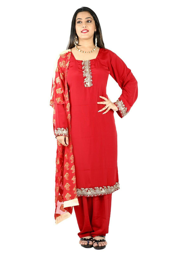 Load image into Gallery viewer, Red Salwar Kameez for Women | Designer Partywear Dress for Women