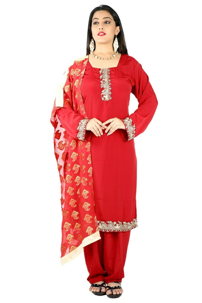 Red Salwar Kameez for Women | Designer Partywear Dress for Women