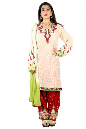 Load image into Gallery viewer, Cream Salwar Kameez for Women | Designer Partywear Dress for Women