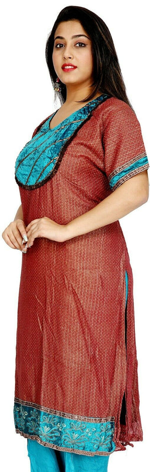 Load image into Gallery viewer, Burgundy and Blue Salwar Kameez for Women | Designer Partywear Dress for Women