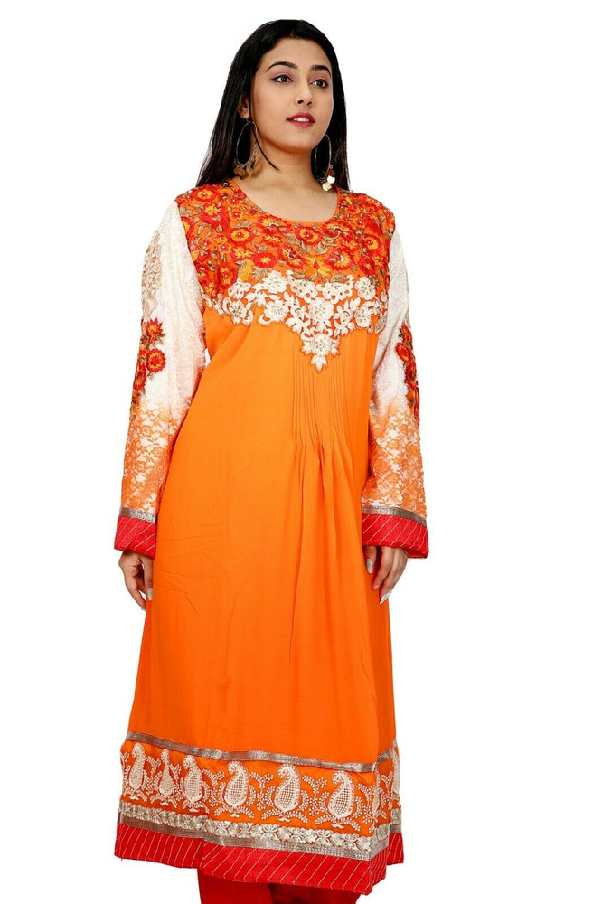 Orange Salwar Kameez for Women | Designer Partywear Dress for Women