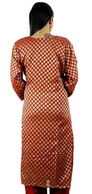 Load image into Gallery viewer, Orange Salwar Kameez for Women | Designer Partywear Dress for Women